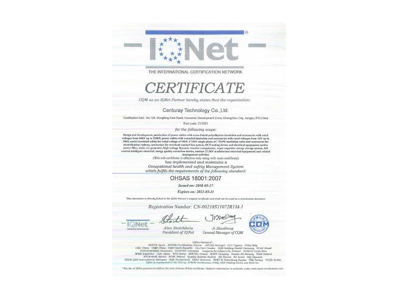 OHSAS 18001 E
